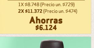 2X $11.372 / AHORRAS $6.124